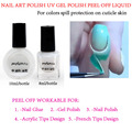 2015 NEW MAGIC 8ml/10ml white peel off liquid tape spill protection solution cleanser for nail polish acrylic glue uv gel etc