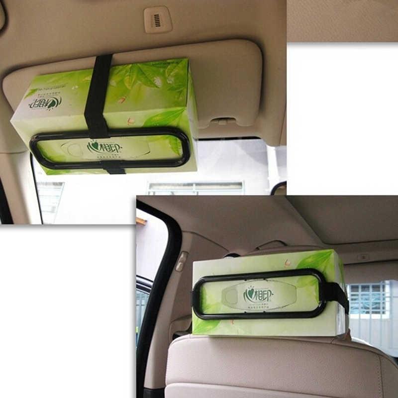 SHNGki ポータブル車のティッシュナプキンボックスホルダー自動車車両バイザー紙オーガナイザー収納車のティッシュペーパーボックスホルダー