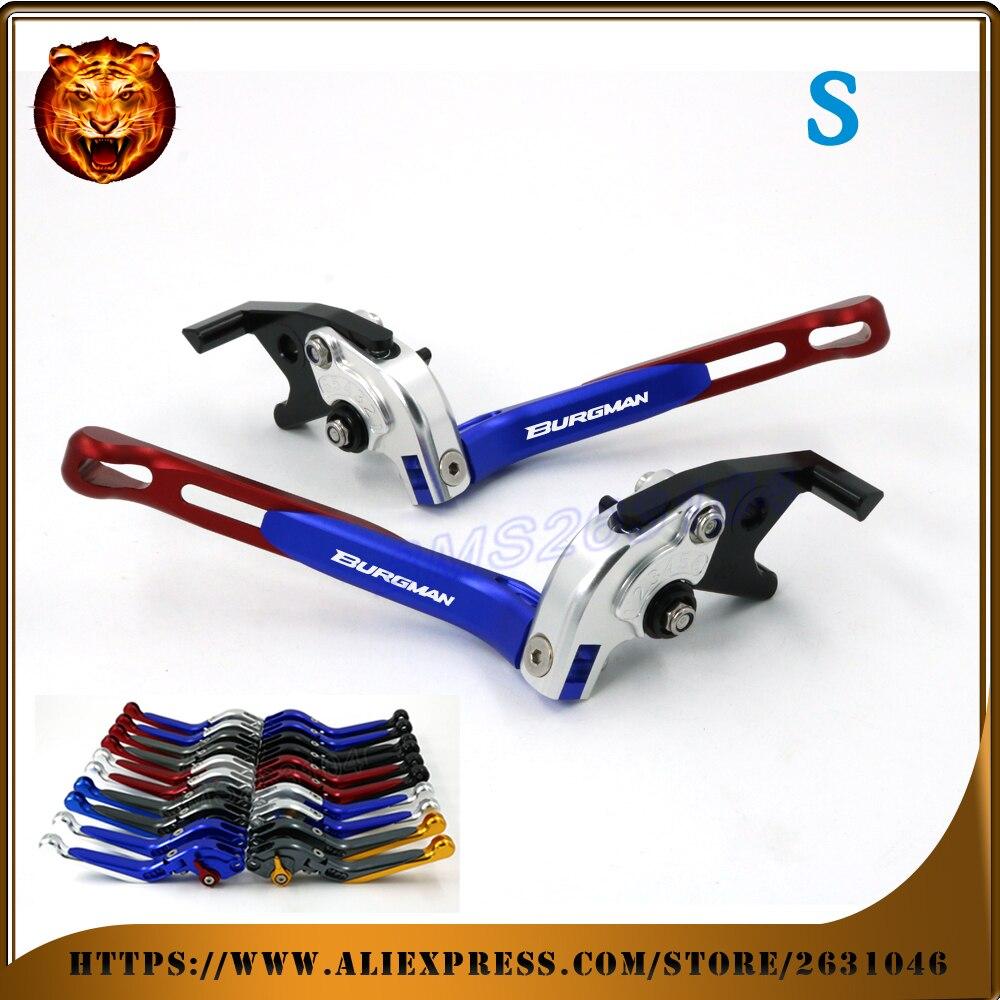 цена на Adjustable Folding Extendable Brake Clutch Lever For SUZUKI AN250 AN400 UH125 UH150 UH200 Burgman an-250 an-400 an-125 an-200