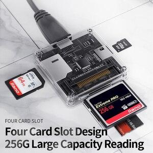 Image 5 - USB3.0/SD/TF/MS/CF 카드 용 4 in 1 멀티 USB 3.0 스마트 카드 리더 플래시 멀티 메모리 카드 리더기 micor SD 플래시 카드 읽기