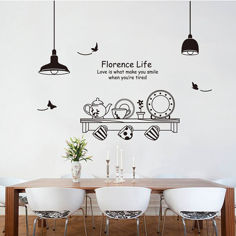 New Dining Room Kitchen Wall Stickers Decoration Home Wedding Room Wall  Decor Sticker Poster Adesivos De ... Part 74