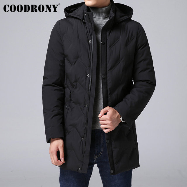 Cheap COODRONY Thick Warm Parka Men Winter Jacket Men Brand Clothes 2018 New Fashion Winter Coat Men Top Quality Hooded Outerwear C010