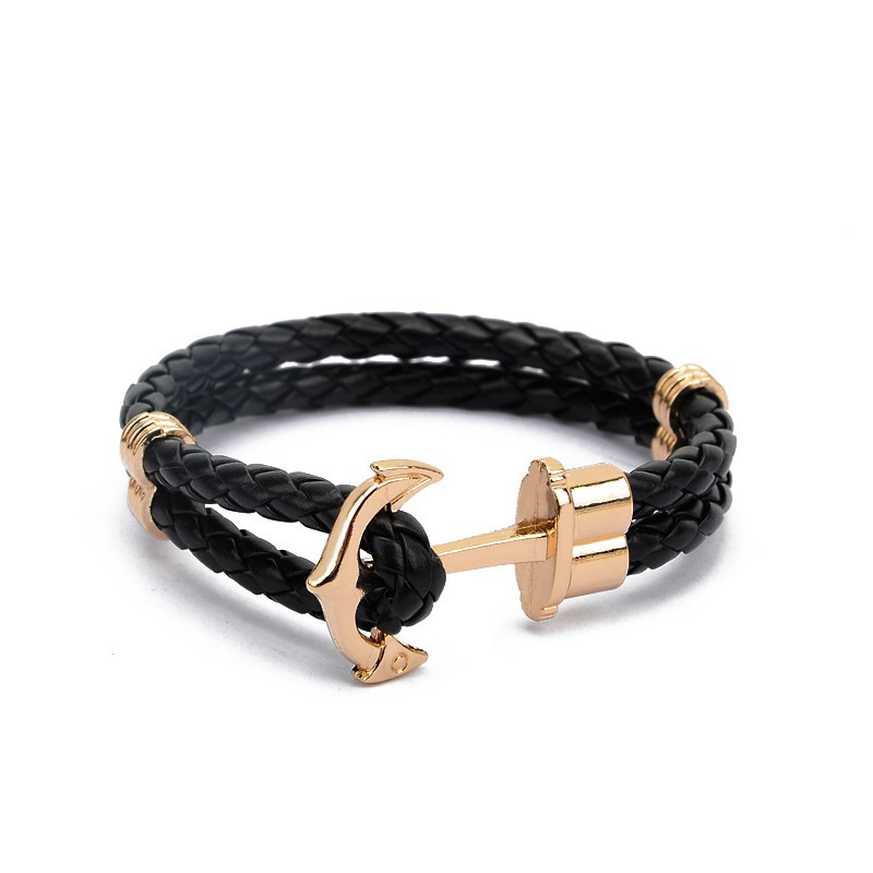 gold-anchor-with-black-braided-leather-bracelet-1