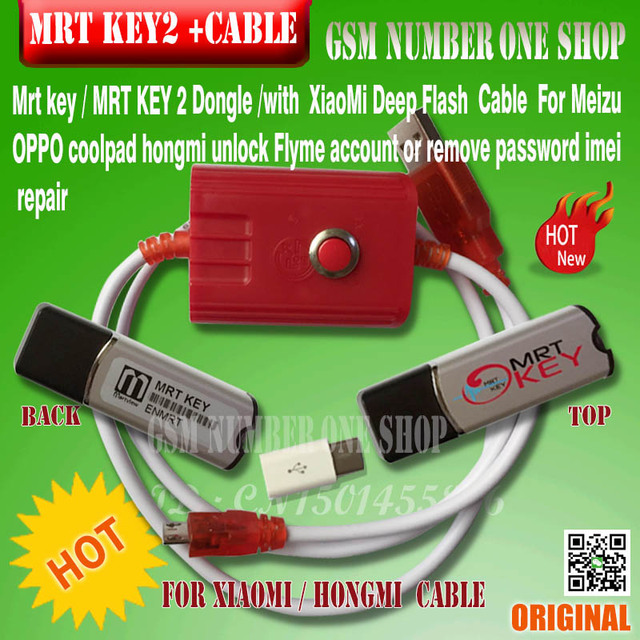 mrt key 2 mrt dongle 2 key / mrt tool 2+ CABLE FORMeizu/OPPO coolpad hongmi  unlock/Flyme account or remove password imei repair