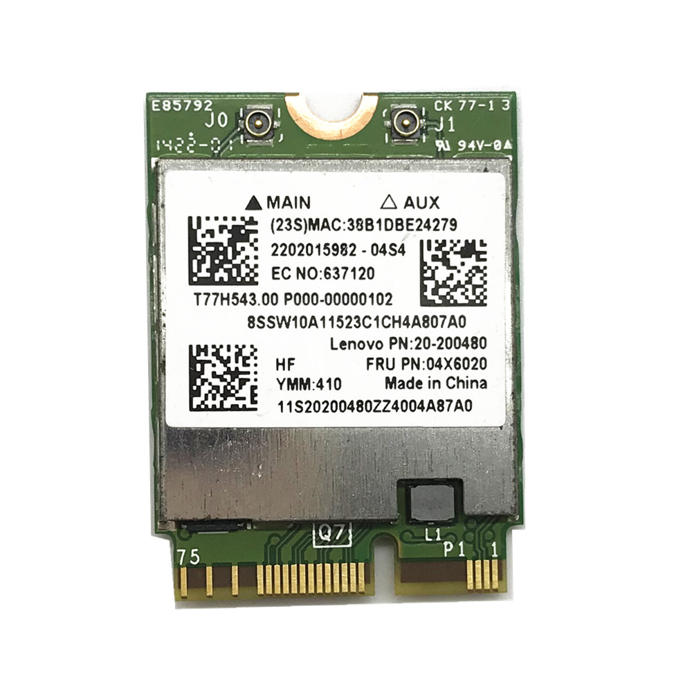 Broadcom BCM94352Z Dual band Wireless AC NGFF 802.11ac 867Mbps WIFI Bluetooth BT 4.0 Card For Lenovo/Thinkpad 04X6020-in Network Cards from Computer & Office