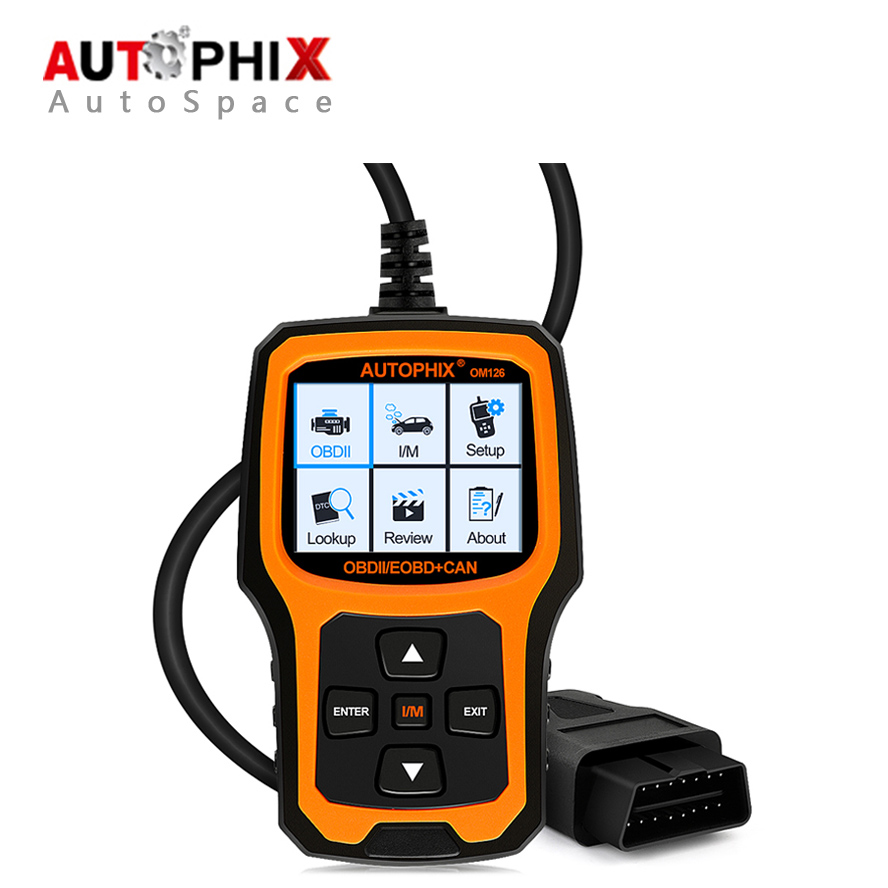 Autophix OM126 Auto OBD OBDII Scanner Universal Car Code Reader Scan Tool OBD2 Diagnostic for Diesel Petrol PK VS890 NT201 AD310 u480 1 5 lcd universal can bus obd2 car diagnostic code reader memo scanner