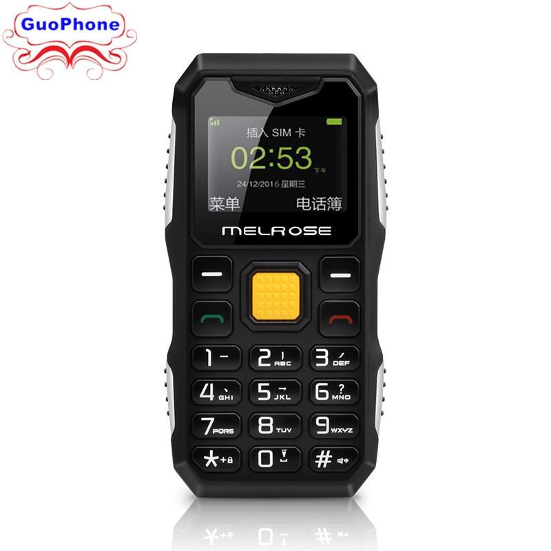 Originale Melrose S10 Mini Telefono MP3 Bluetooth Ultra-sottile Da 1.0 Pollici Rugged Outdoor Telefono Antipolvere Shockproof