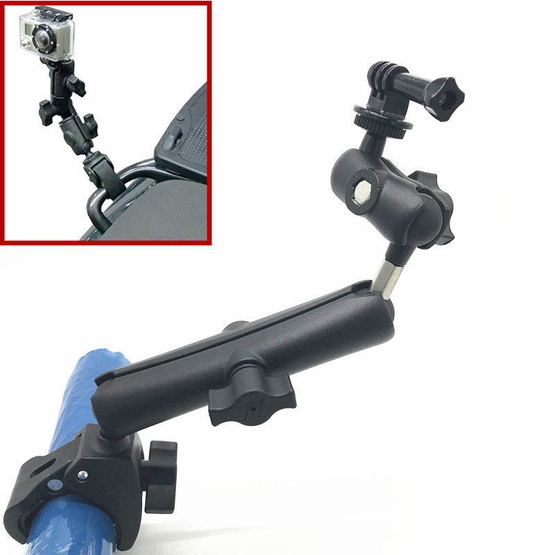 Tough Claw Handlebar Mount with Double Socket Swivel Arm for GoPro Hero Camera