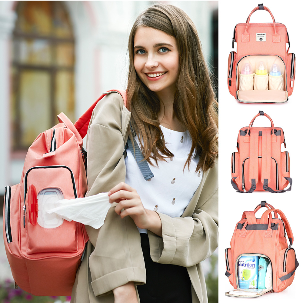 Baby Diaper Bag Backpack Large Capacity Travel Backpack Mummy Nappy Bag Maternity Mommy Nursing Backpack Baby Care Stroller Bag