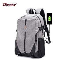 Teen Canvas Men Backpack Cool 2017 High School Bags for Teenage Book Bag Boys girls USB