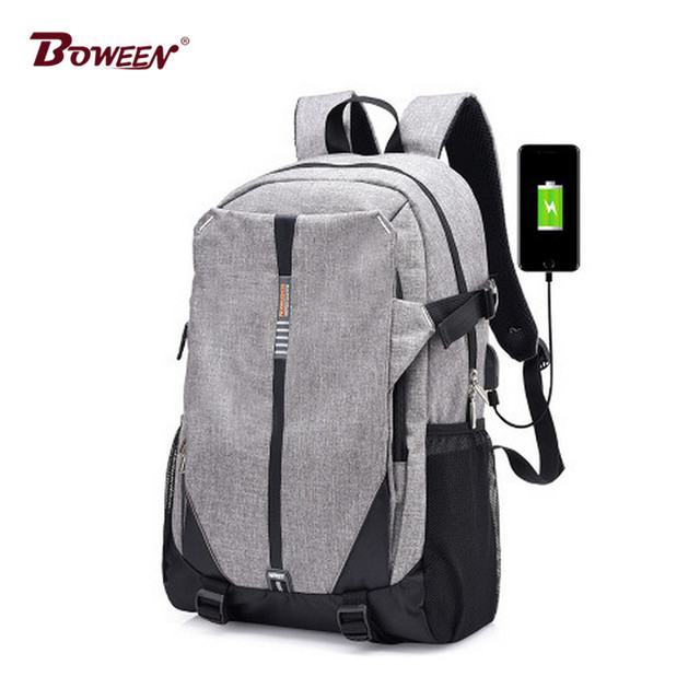 6f3ac178e7 Teen Canvas Men Backpack Cool 2017 High School Bags for Teenage Book Bag  Boys girls USB