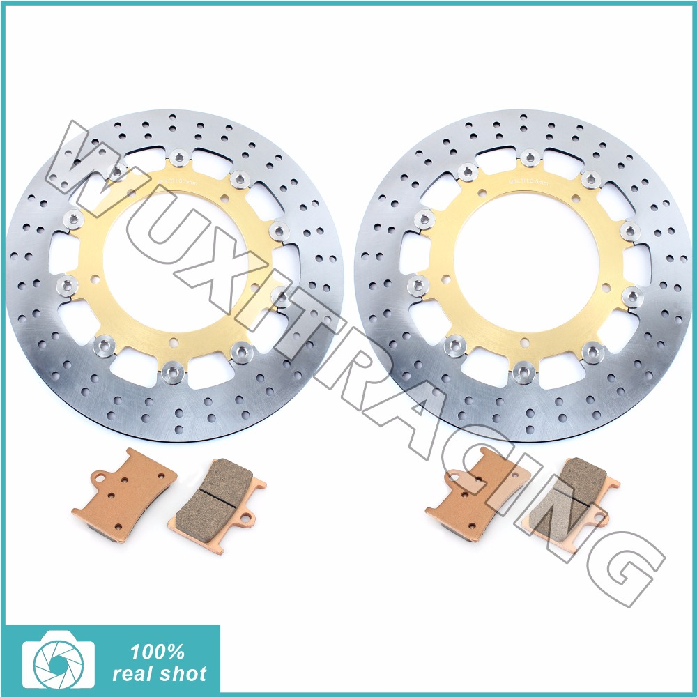 New Round Motorcycle Front Brake Discs Rotors +Brake Pads for YAMAHA FZ8 800 2011 2012 2013 XTZ 1200 XTZ1200 SUPER TENERE 12 13 starpad for lifan motorcycle lf150 10s kpr150 new front brake discs accessories