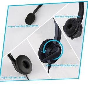 Image 5 - Наушники для колл центра с спиральным одиночным Aux/двойным Aux/USB/RJ9 кабелем, шумоподавляющим микрофоном, 8 часов работы, гарнитура для звонков по обслуживанию клиентов