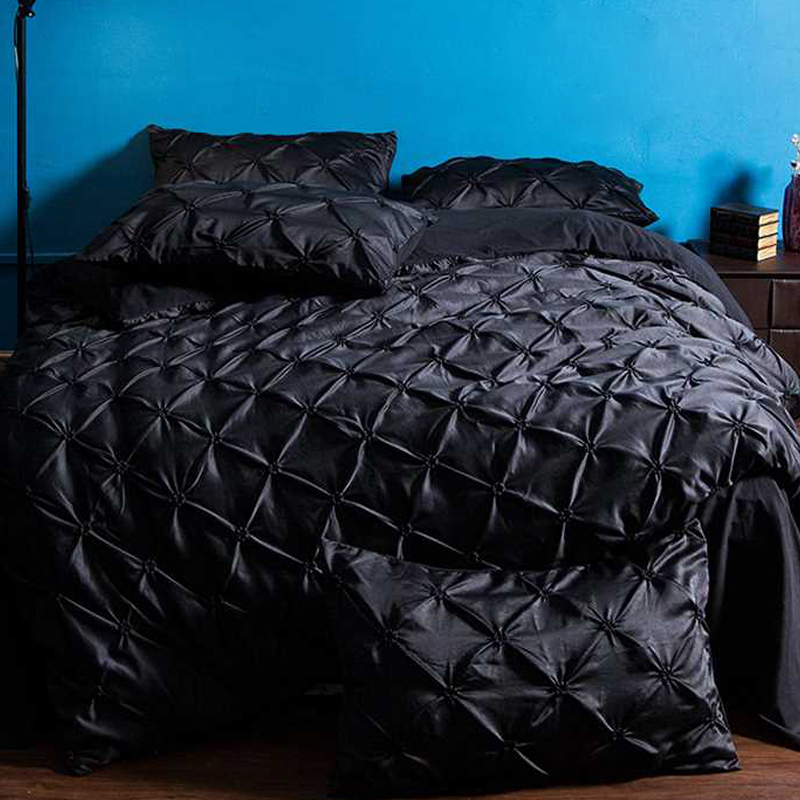 Bedding Sets Polyester Fiber Black Bed Home Furnishing Home Hotel Pillow Case Bed Sheet Bedding Cover Set Duvet Cover