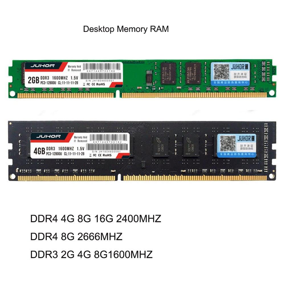 Nova DDR4 4G 8G 16G PC Memória RAM DDR4 8G 2666MHZ DDR4 4G 8G 2400MHZ DDR3 2G 4G F1 8G de Memória PC Desktop 240 pinos Sistema Compatível