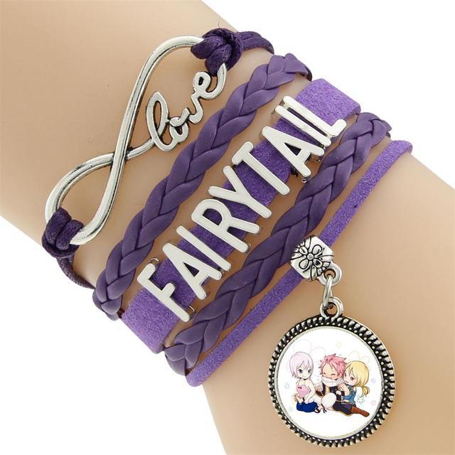 Bracelet Vintage Infinity Braided Fairy Tail Leather Bracelet Multilayer Rope Bracelets Wrap Bracelets Bangle