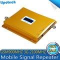 2016 Más Nueva Pantalla LCD GSM 900 Repetidor 3G 2100 Teléfono Celular Amplificador de Señal Móvil WCDMA Repetidor de la Señal Del Teléfono Móvil amplificador