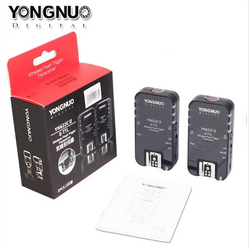 YONGNUO disparador de Flash TTL inalámbrico YN622 YN-622C II KIT de C-TX con sincronización de alta velocidad HSS 1/8000s para cámara Canon 500D 60D 7D 5DIII - 2