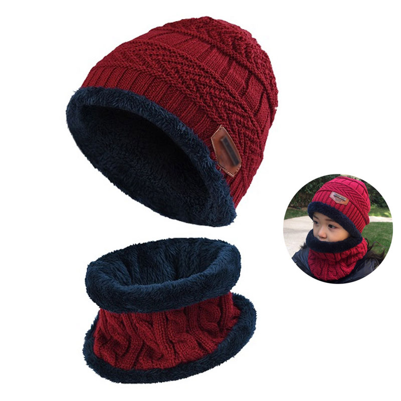 Warm Knitted Hat and Circle Scarf (26)