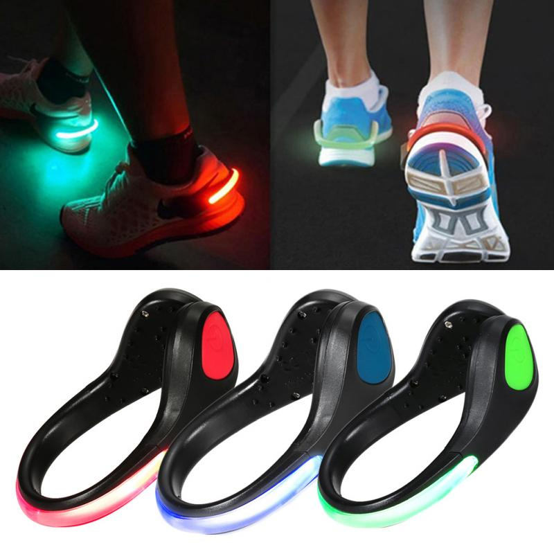 4 colors LED Luminous Shoe Clip Light Night Safety Warning ...