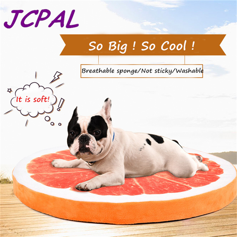 JCPAL Breathable Dog Bed Comfortable Cartoon Fruit Dog Mat Washable Pet Bed With Sponge Craft Soft Dog Deds For Medium Dogs