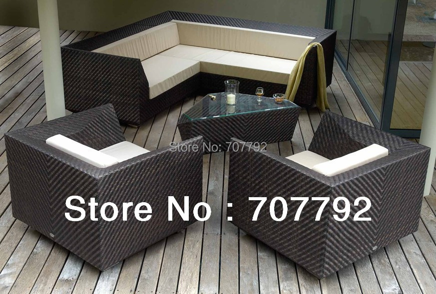 2017 New Design Patio Furniture Outdoor Corner Sofa Set China