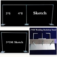 Wedding Backdrop Stand with expandable Rods Backdrop Frame Adjustable Stainless Steel Pipe Wedding props