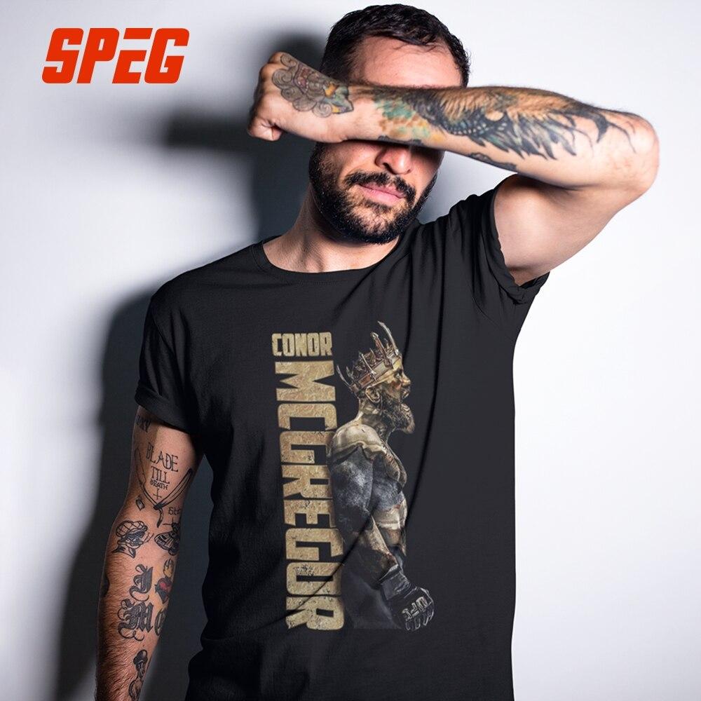 SPEG Der König Von Conor McGregor MMA Berüchtigten T Hemd Männer Kurzarm Tops 100% Cortton T O Neck Kleidung männlichen Vintage T-Shirt