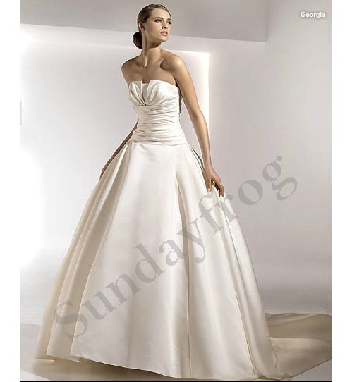 Selling Wedding Gowns: Freeshipping Best Selling Custom Made Ruched Strapless
