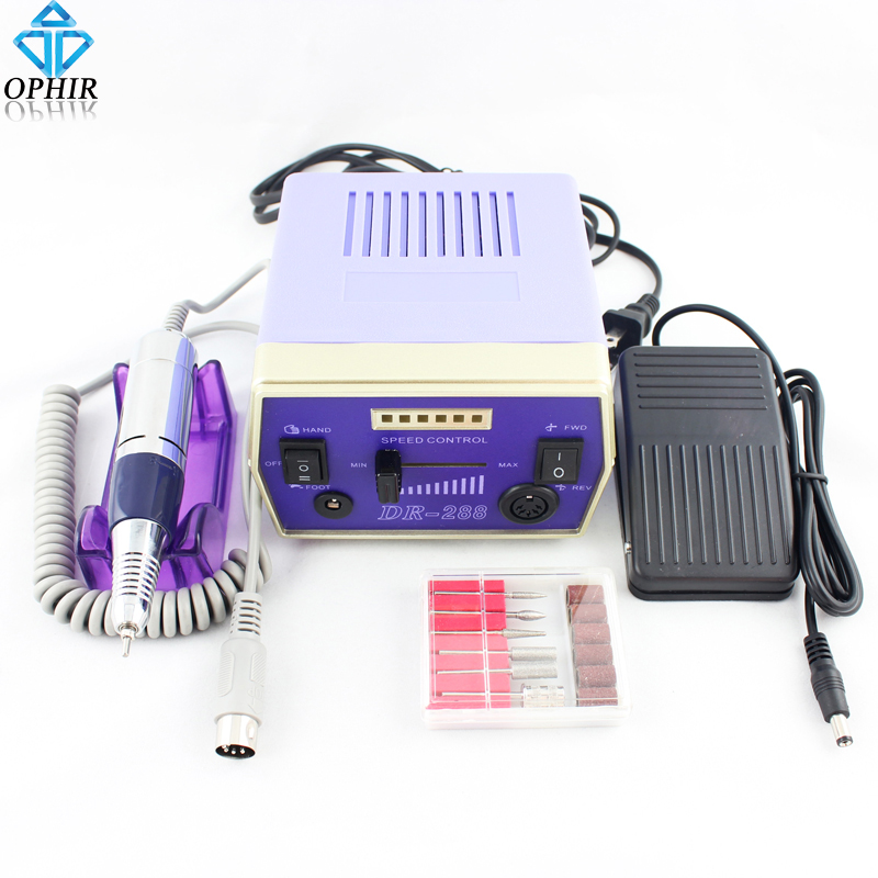 OPHIR Pro Electric Nail Drill Machine 30000RPM Nail Art Equipment Manicure Polishing Machine to Nails File Drill Bits Nail Tool electric nail drill machine manicure pedicure portable nail art tools strong polishing machine cutter drill file bits set nails
