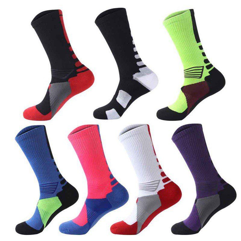 1 Pair Winter Warm Men Boy Long Socks Football Socks Basketball Sports Anti Slip Cycling Climbing Running Socks