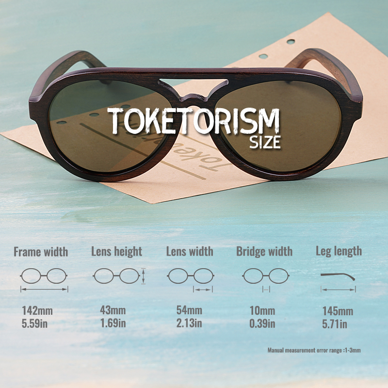 Image 4 - Toketorism wooden sunglasses men polarized uv400 high quality wood glasses 8303-in Men's Sunglasses from Apparel Accessories