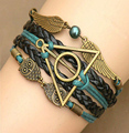 New Fashion Infinity Bracelet Harry botter Deathly Hallows Wing Dream infinity Bracelet link Bracelets Charms Bracelet
