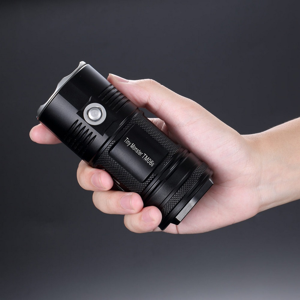 NITECORE TM06S SEARCH FLASHLIGHT CREE XML2 U3 LED 4000 LM Beam Distance 359M High Light Torch + 4x 18650 Batteries Free Shipping