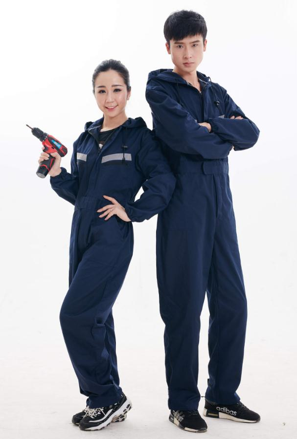 Safety Reflective Work Clothes Overalls With Hat, Factory Uniform Work Clothing, Cotton Apparel.jumpsuit,Labor Suit.