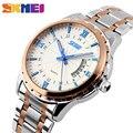 SKMEI 9069 Кварцевые Часы Мужчины Мода Повседневная Полная Сталь Авто Дата Водостойкой Наручные Часы Relógio Masculino