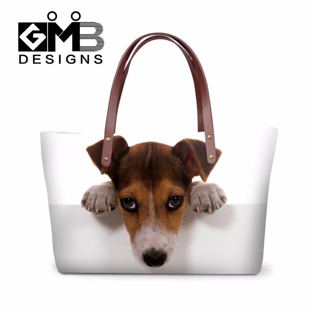 Dispalang Large Jack Russel dog Handbags for Girls Casual Messenger Hand Bag Animal Puppy Shoulder Shopping bag Women Beach Bag