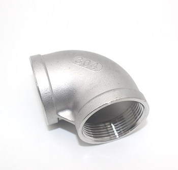 1/2 Elbow 90 Degree Angled F/F Stainless Steel SS 304 Female*Female Threaded Pipe Fittings Moonshine Still 1 4 tee 3 way f f f threaded pipe fittings stainless steel ss304 female x female x female 3 ways tee 39mm length