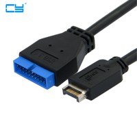 USB 3 1 Front Panel Header To USB 3 0 20Pin Header Extension Cable 20cm For