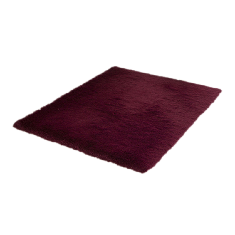 Home Rugs Living Bedroom Plush Rugs Red Wine 50*80cm-in