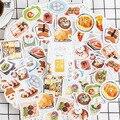 46 шт./упак. повседневные пищевые мини-бумажные наклейки, Diy альбом, дневник в стиле Скрапбукинг, наклейка, канцелярские украшения