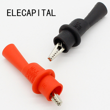 1 Pair Alligator Crocodile Test Clip Clamp For Multimeter Tester Probe New