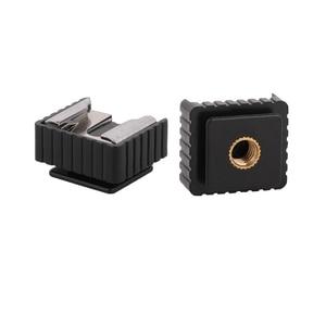 Image 1 - Kaliou 2 шт U Тип 1/4 винт один горячий башмак SC 6 Крепление адаптер для горячего башмака для вспышки