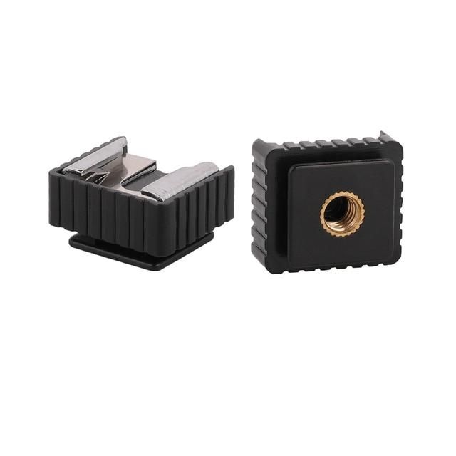 Kaliou U Type 1/4 screw Single Hot Shoe Mount Adapter Flash Light Stand Flash Base Holder Triple Hot Shoe Mount Converter