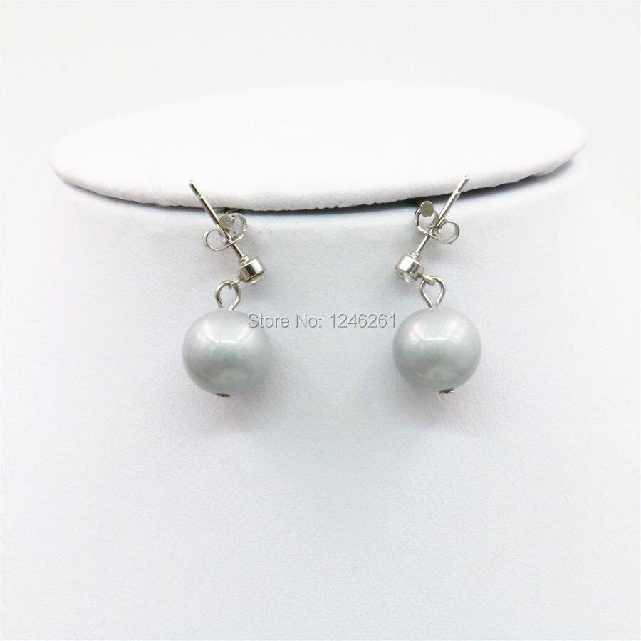 e9478f1c59f8 8mm Venta caliente Accesorios gris perla de cristal suerte Cuentas piedra  earbob Pendientes mujeres Niñas regalos moda joyería haciendo diseño