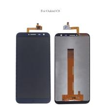 מקורי LCD עבור Oukitel C8 LCD תצוגת מסך מגע digitizer רכיב עבור Oukitel C 8 טלפון נייד חלקי fr