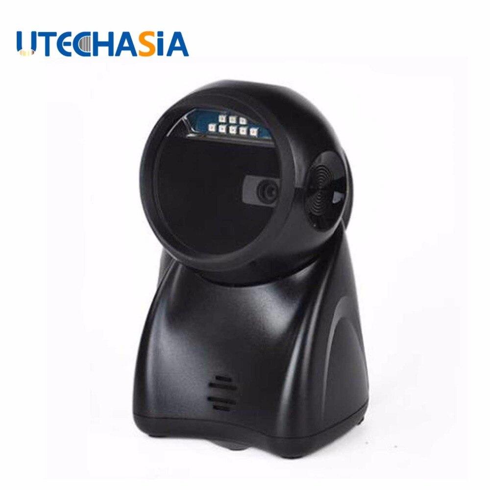 Usb штрих Сканеры Автоматический Лазерный 1D 2D код высокое Скорость сканирования всенаправленный для супермаркета Mobile проводной сканер