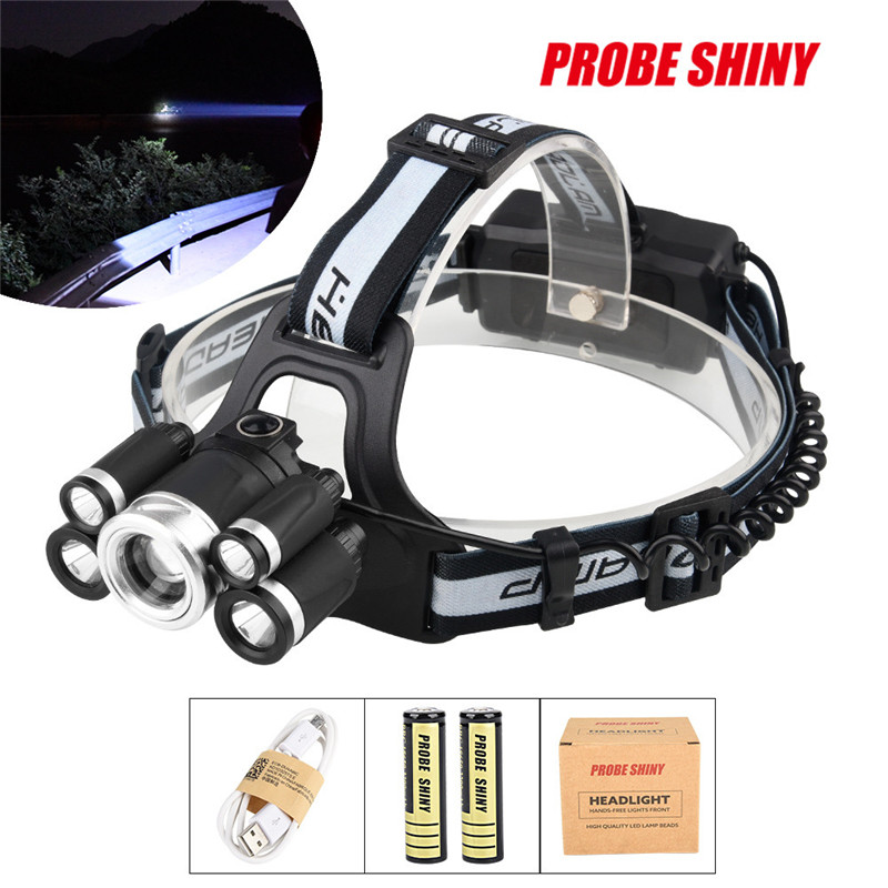 Bike Bicycle Light 35000LM 5x XM-L T6 LED Headlamp Headlight Flashlight Head Light Lamp 18650 For Bike Accessories A1 cree xm l t6 bicycle light 6000lumens bike light 7modes torch zoomable led flashlight 18650 battery charger bicycle clip