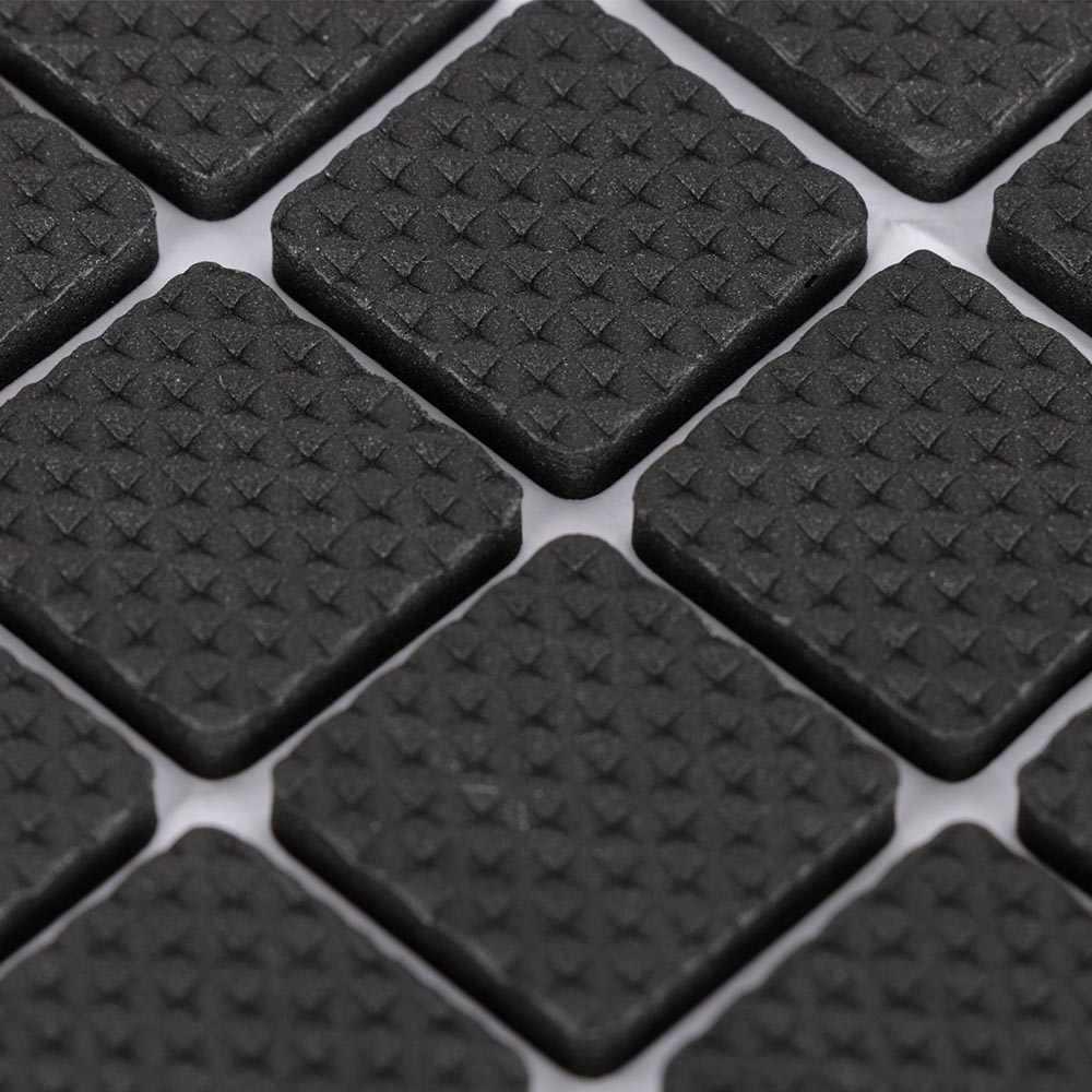 48Pcs Möbel Gummi Bein Füße Filz Pads Anti Slip Selbst Klebstoff Für Sofa Stuhl/Tisch/Schreibtisch Boden dämpfer Pads Protektoren Matte