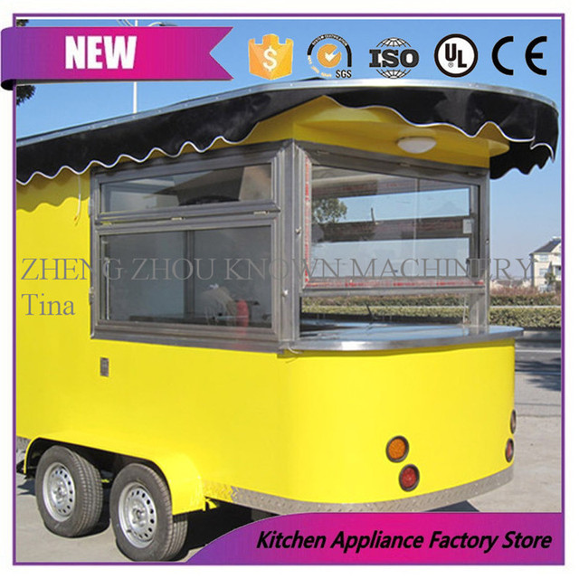 2018 Hot Sale Food Cart With Wheels Commercial Mobile Ice Cream